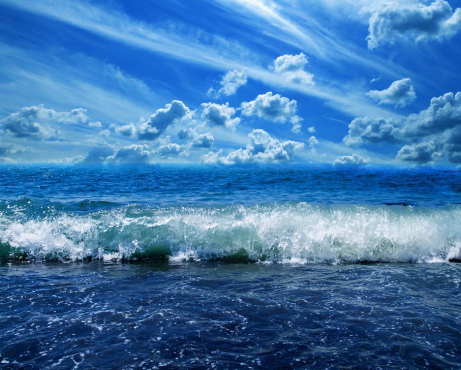 Открытка море небо, подписать