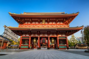 TOKYO, JAPAN — NOV 13, 2016: Sensoji Temple in Tokyo, Japan on November 13 2016. Oldest temple in Tokyo and it is one of the most significant Buddhist temples located in Asakusa area.